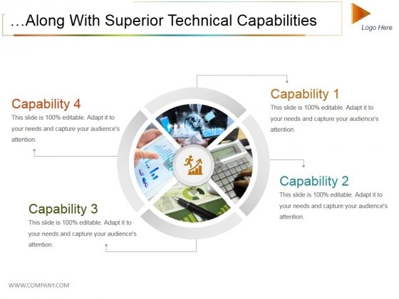 Along With Superior Technical Capabilities Ppt PowerPoint Presentation Infographic Template Background Image