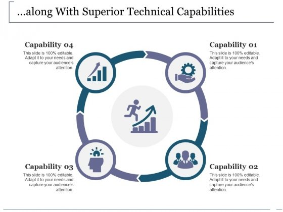 Along With Superior Technical Capabilities Ppt PowerPoint Presentation Styles Background