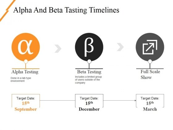 Alpha And Beta Tasting Timelines Ppt PowerPoint Presentation Infographics Layouts