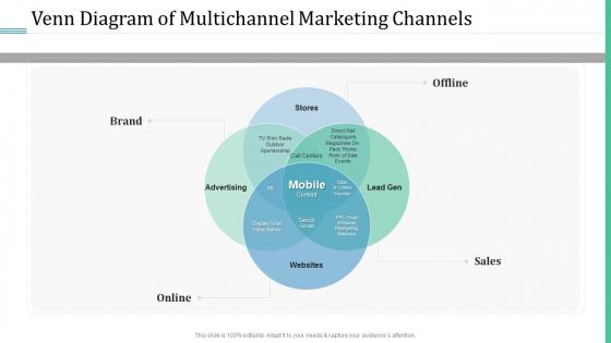 Alternative Distribution Advertising Platform Venn Diagram Of Multichannel Marketing Channels Professional PDF
