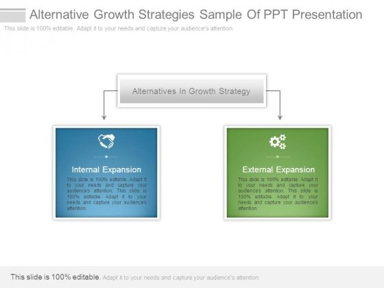 Alternative Growth Strategies Sample Of Ppt Presentation