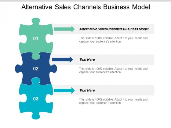 Alternative Sales Channels Business Model Ppt Powerpoint Presentation Ideas Sample Cpb