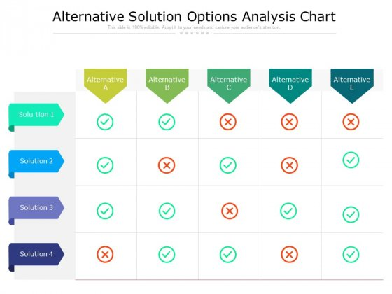 Alternative Solution Options Analysis Chart Ppt PowerPoint Presentation Infographic Template Information PDF