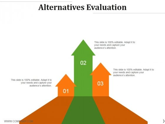 Alternatives Evaluation Ppt PowerPoint Presentation Infographics Tips