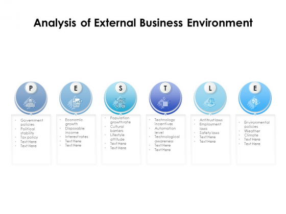 Analysis Of External Business Environment Ppt PowerPoint Presentation Icon Slide Portrait PDF
