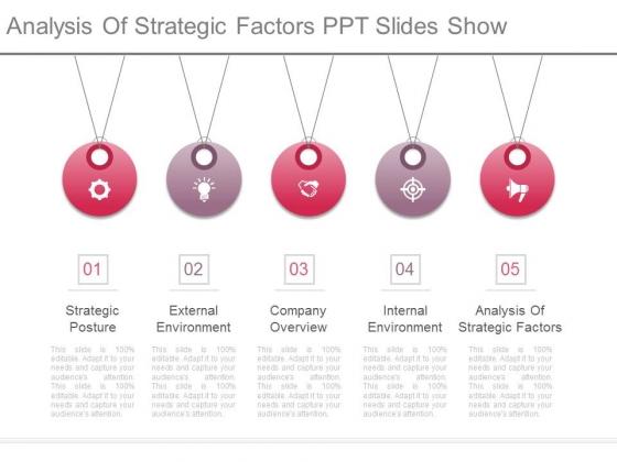 Analysis Of Strategic Factors Ppt Slides Show