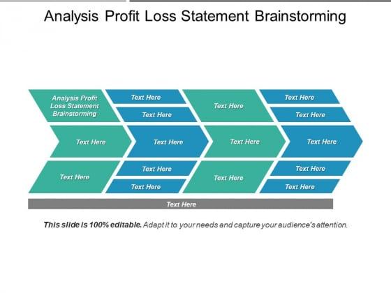 Analysis Profit Loss Statement Brainstorming Ppt PowerPoint Presentation Icon Graphics Tutorials