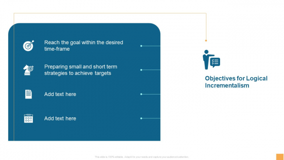 Analytical Incrementalism Objectives For Logical Incrementalism Ppt Styles Structure PDF