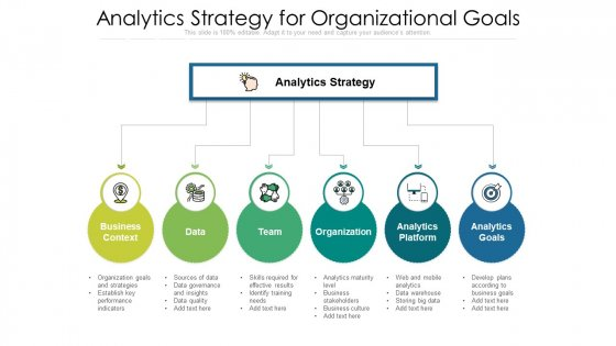 Analytics Strategy For Organizational Goals Clipart PDF