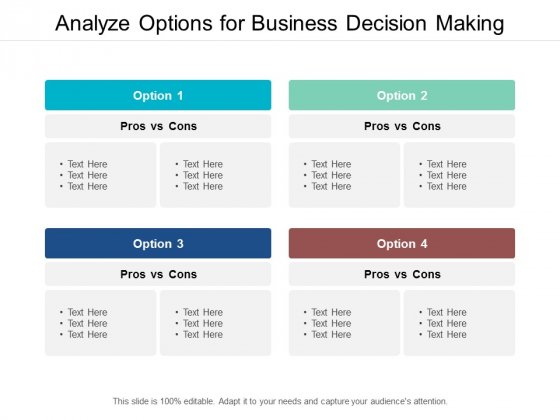 Analyze Options For Business Decision Making Ppt PowerPoint Presentation Model Slides