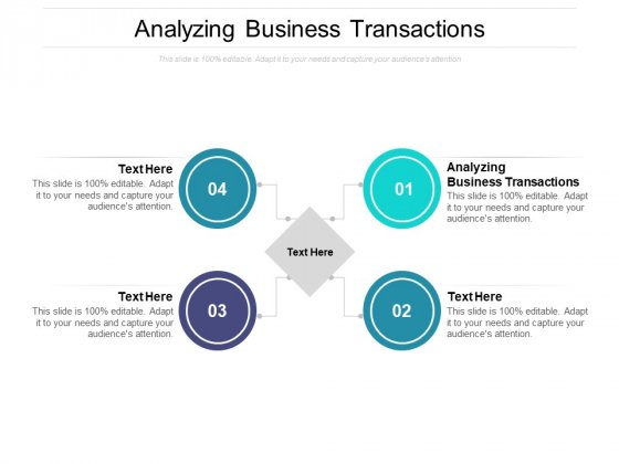 Analyzing Business Transactions Ppt PowerPoint Presentation Outline Icons Cpb Pdf