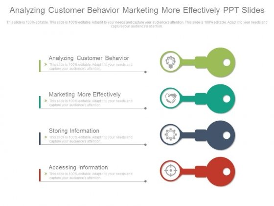 Analyzing Customer Behavior Marketing More Effectively Ppt Slides
