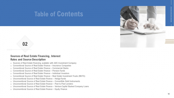 Analyzing_Real_Estate_Funding_Sources_With_Cost_Of_Borrowing_Ppt_PowerPoint_Presentation_Complete_Deck_With_Slides_Slide_12