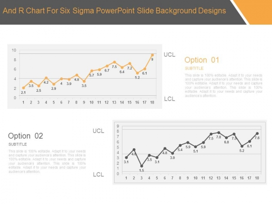 And R Chart For Six Sigma Powerpoint Slide Background Designs