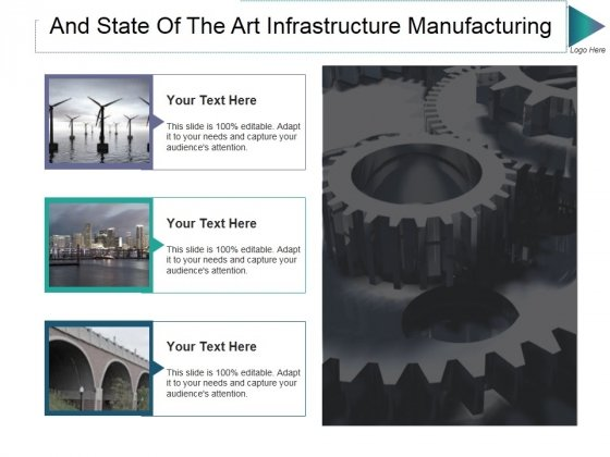 And State Of The Art Infrastructure Manufacturing Ppt PowerPoint Presentation Professional Visual Aids