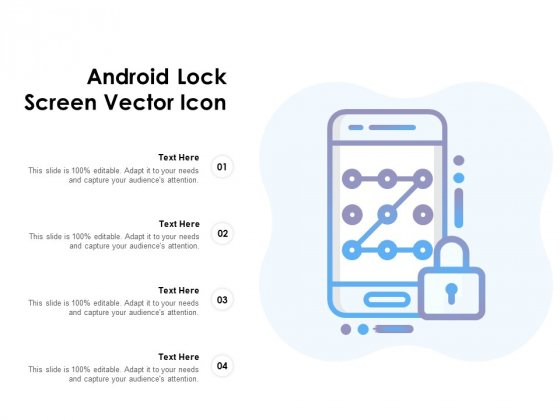 Android Lock Screen Vector Icon Ppt PowerPoint Presentation Model Sample