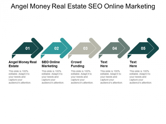 Angel Money Real Estate Seo Online Marketing Crowdfunding Ppt PowerPoint Presentation Examples