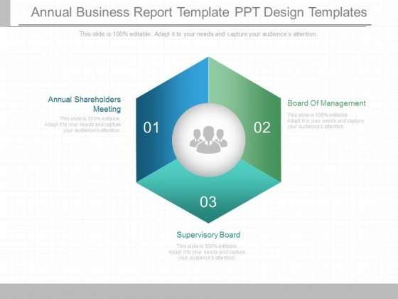 annual business report template ppt design templates powerpoint