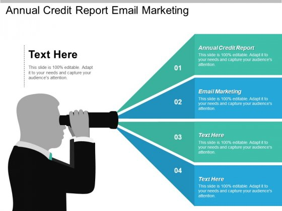 Annual Credit Report Email Marketing Ppt PowerPoint Presentation Layouts Themes
