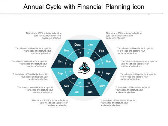 Annual Cycle With Financial Planning Icon Ppt PowerPoint Presentation Professional Templates