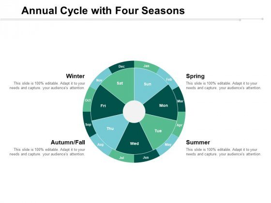 Annual Cycle With Four Seasons Ppt PowerPoint Presentation Slides Graphics