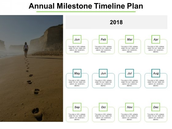 Annual Milestone Timeline Plan Ppt PowerPoint Presentation Gallery Clipart Images