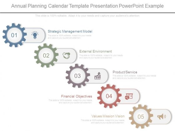 Annual Planning Calendar Template Presentation Powerpoint Example