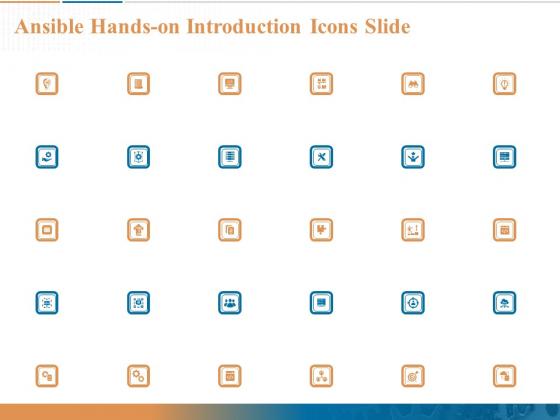 Ansible Hands On Introduction Icons Slide Ppt PowerPoint Presentation Ideas Slide Portrait PDF