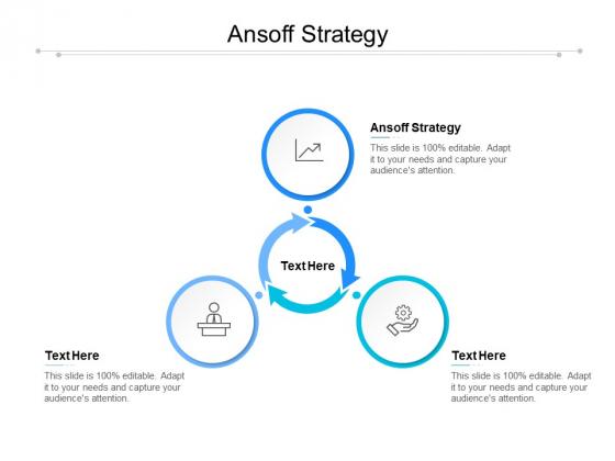 Ansoff Strategy Ppt PowerPoint Presentation Model Skills Cpb
