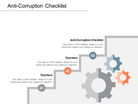 Anti Corruption Checklist Ppt PowerPoint Presentation Infographic Template Brochure Cpb
