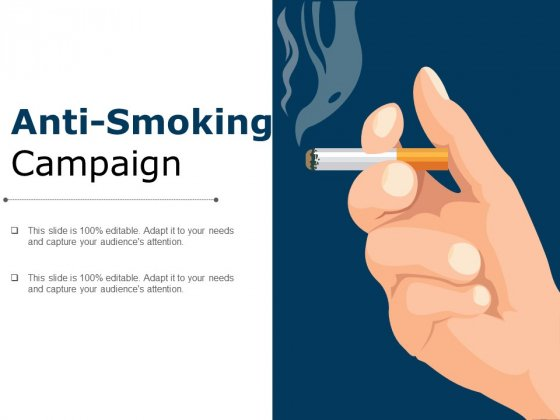 Anti Smoking Campaign Ppt PowerPoint Presentation Icon Graphics