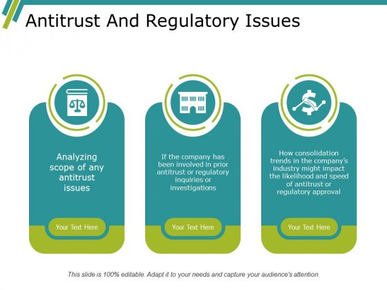 Antitrust And Regulatory Issues Ppt PowerPoint Presentation Ideas Show