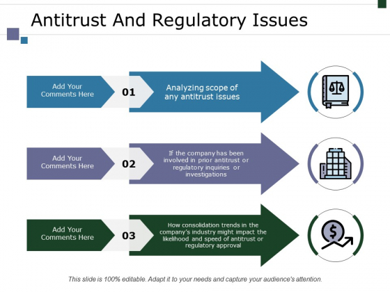 Antitrust And Regulatory Issues Ppt PowerPoint Presentation Portfolio Objects