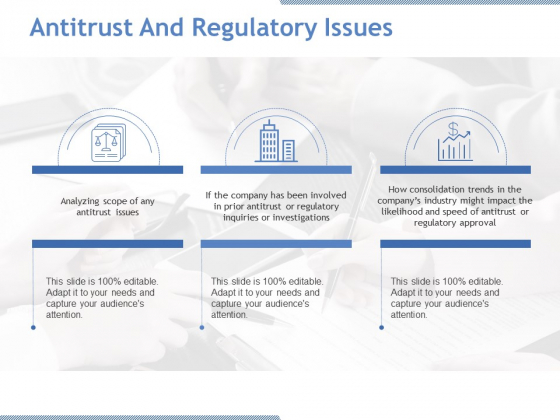 Antitrust And Regulatory Issues Ppt PowerPoint Presentation Professional Show