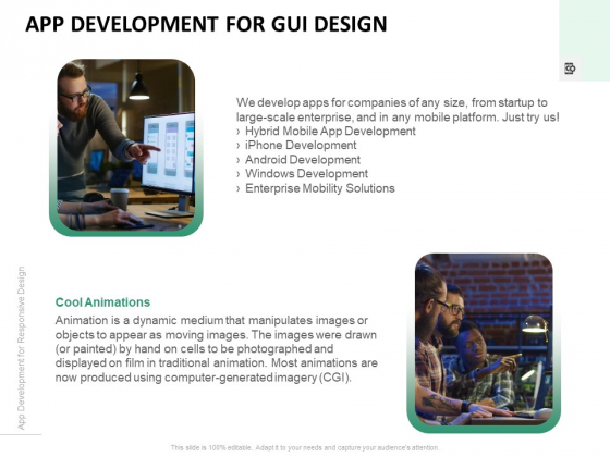 App Development For GUI Design Ppt PowerPoint Presentation Portfolio Slide Download PDF