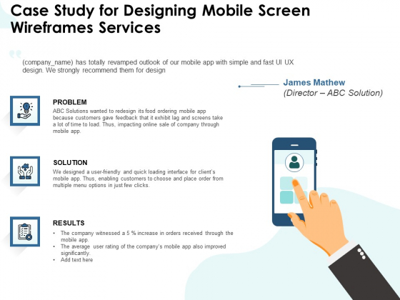 App Wireframing Case Study For Designing Mobile Screen Wireframes Services Ideas PDF