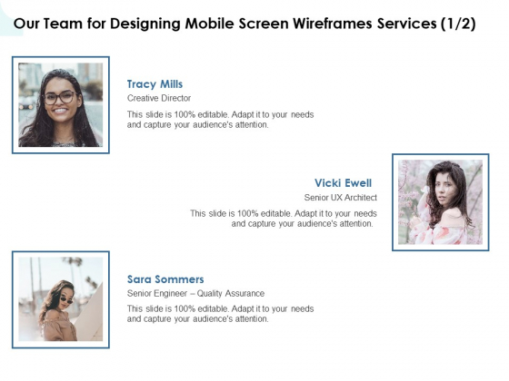 App Wireframing Our Team For Designing Mobile Screen Wireframes Services Ux Introduction PDF