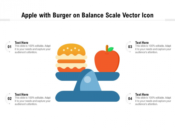 Apple_With_Burger_On_Balance_Scale_Vector_Icon_Ppt_PowerPoint_Presentation_Gallery_Images_PDF_Slide_1