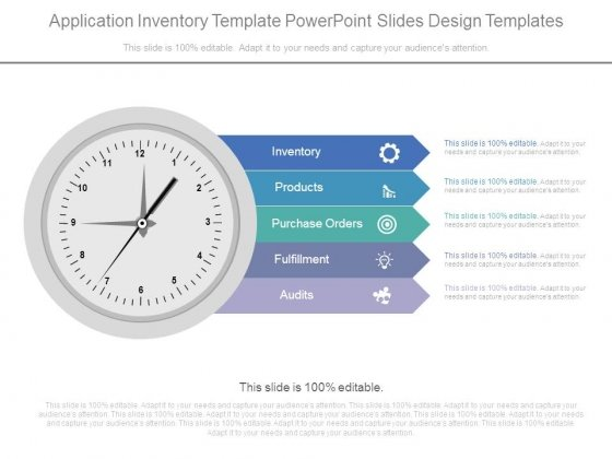 Application Inventory Template Powerpoint Slides Design Templates