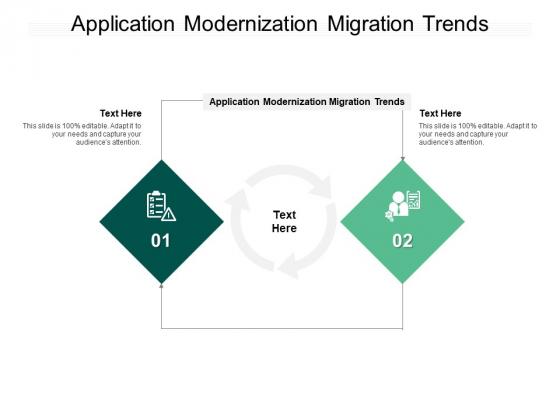 Application Modernization Migration Trends Ppt PowerPoint Presentation Infographic Template Clipart Cpb Pdf