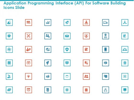 Application Programming Interface API For Software Building Icons Slide Structure PDF