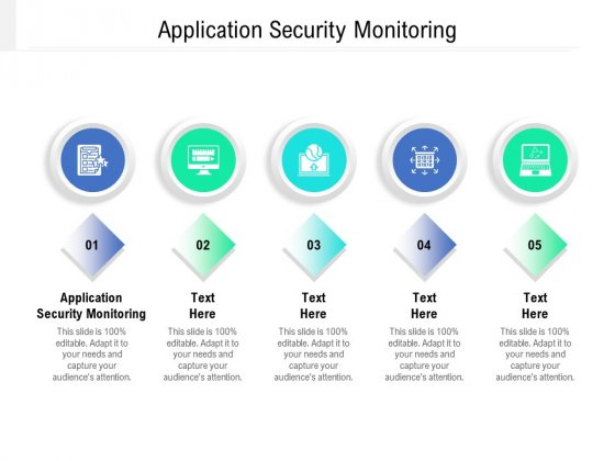 Application Security Monitoring Ppt PowerPoint Presentation Layouts Graphic Images Cpb Pdf