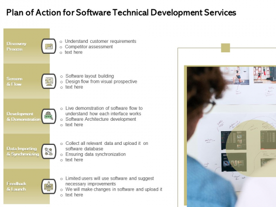 Application Technology Plan Of Action For Software Technical Development Services Summary PDF