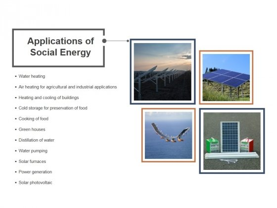 Applications Of Social Energy Ppt PowerPoint Presentation Slides