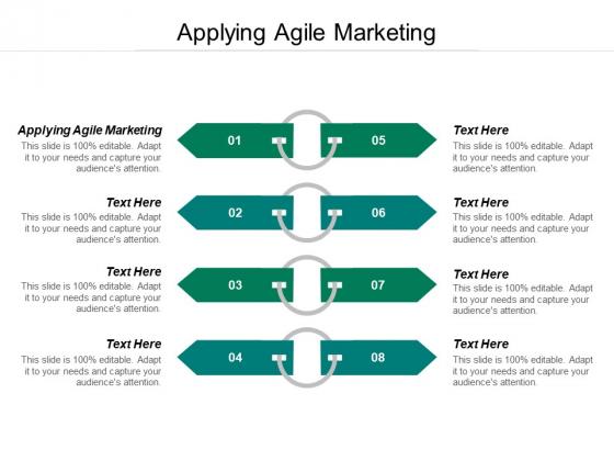 Applying Agile Marketing Ppt PowerPoint Presentation Styles Display Cpb