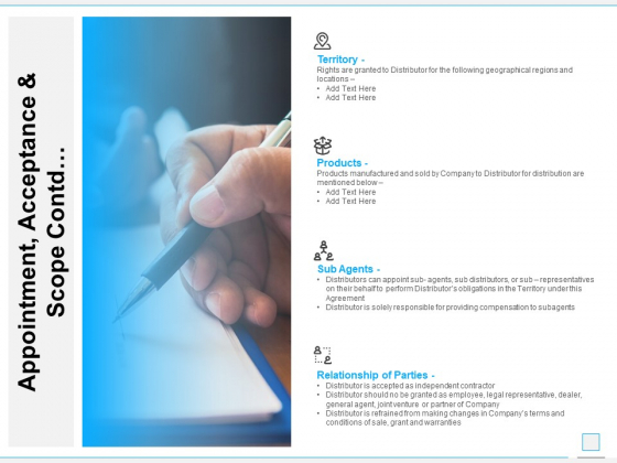 Appointment Acceptance And Scope Contd Ppt PowerPoint Presentation Ideas Brochure