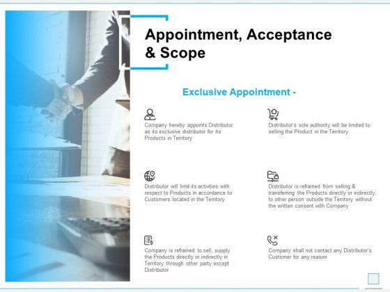 Appointment Acceptance And Scope Ppt PowerPoint Presentation Infographic Template Summary