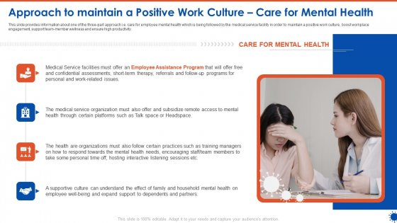 Approach To Maintain A Positive Work Culture Care For Mental Health Download PDF