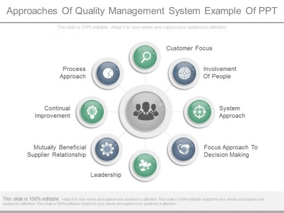 Approaches Of Quality Management System Example Of Ppt