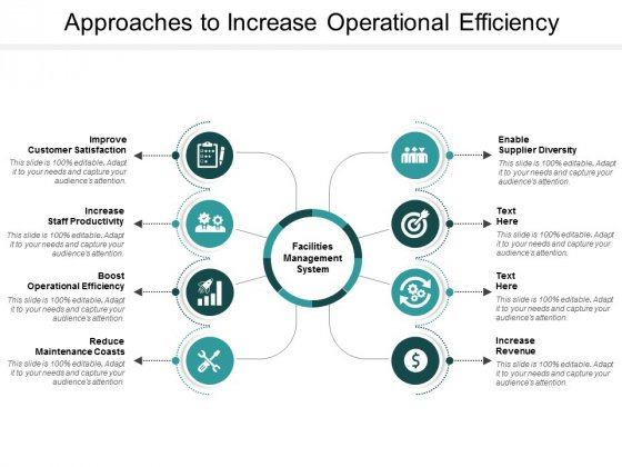 Approaches To Increase Operational Efficiency Ppt Powerpoint Presentation Inspiration Picture